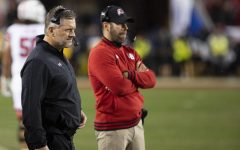 University of Utah football head coach Kyle Whittingham as the clock winds down in a loss to the University of Oregon Ducks in the 2019 Pac-12 Championship football game at Levi's Stadium Dec. 6. (Justin Prather | Daily Utah Chronicle)