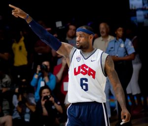 LeBron James in 2012 on the US National Basketball team. Image via WikiMedia Commons