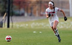 University of Utah Utes Women's soccer team defender Aleea Gwerder (9) makes a run with the ball during an NCAA soccer match vs. the Stanford Cardinal women's soccer team at the Ute Soccer Field in Salt Lake City, Utah on Sunday, Oct. 27, 2019 (Photo by Abu Asib | The Daily Utah Chronicle)