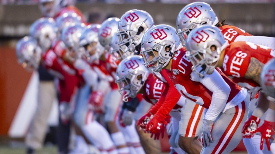 The+University+of+Utah+Football+Team+warms+up+prior+to+the+start+of+the+game+in+an+NCAA+Football+game+vs.+Colorado+at+Rice-Eccles+Stadium+in+Salt+Lake+City%2C+UT+on+Saturday+November+30%2C+2019.%28Photo+by+Curtis+Lin+%7C+Daily+Utah+Chronicle%29