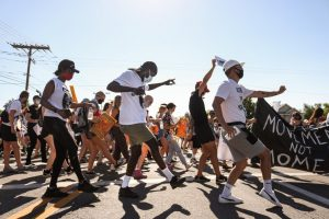 Protesters dance for justice on Salt Lake streets on July 19, 2020.