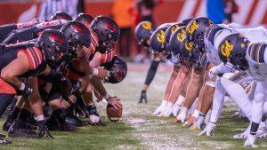 University of Utah Utes football team faces California Golden Bears at Rice Eccles Stadium in Salt Lake City, Utah on Saturday, October 26, 2019. (Photo by Abu Asib | The Daily Utah Chronicle)