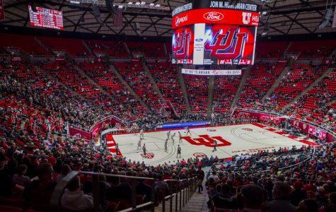 The University of Utah plays against Stanford during an NCAA Basketball game at the Jon M. Huntsman Center in Salt Lake City, Utah on Thursday, Feb. 6, 2020. (Photo by Kiffer Creveling | The Daily Utah Chronicle)