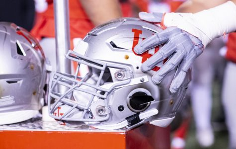 The University of Utah football team brought out the throwback helmets again in an NCAA Football game vs. Colorado at Rice-Eccles Stadium in Salt Lake City, UT on Saturday, Nov. 30, 2019. (Photo by Curtis Lin | The Daily Utah Chronicle)