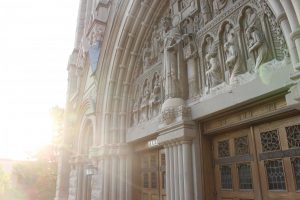 Cathedral of the Madeleine in Salt Lake City photographed on August 28th, 2020. (Photo by Gwen Christopherson | The Daily Utah Chronicle)