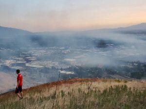 Wildfire Starts Behind the U