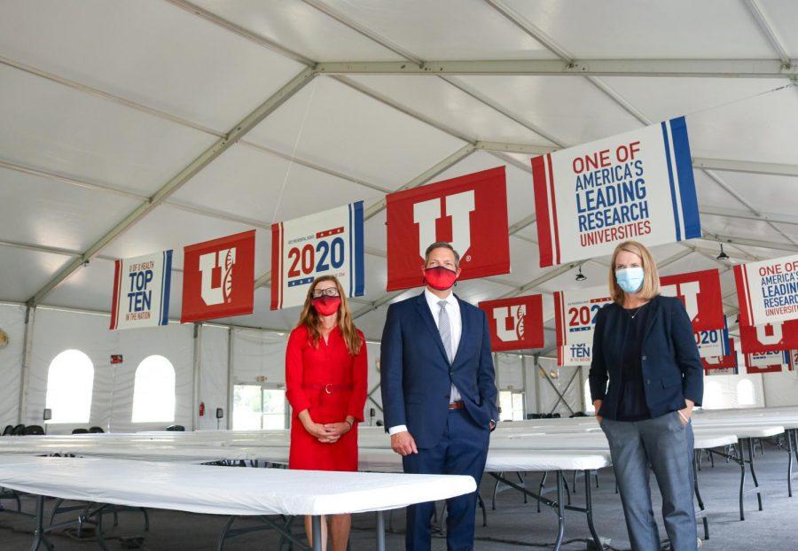 Press Conference for Utah Media held at President Circle on the University for the VP Debate on Salt Lake City on Sept. 25, 2020. (Ivana Martinez | Daily Utah Chronicle)
