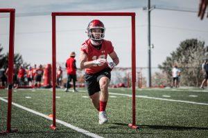 Utah WR Britain Covey at Utah Football Practice. Photo courtesy Utah Athletics