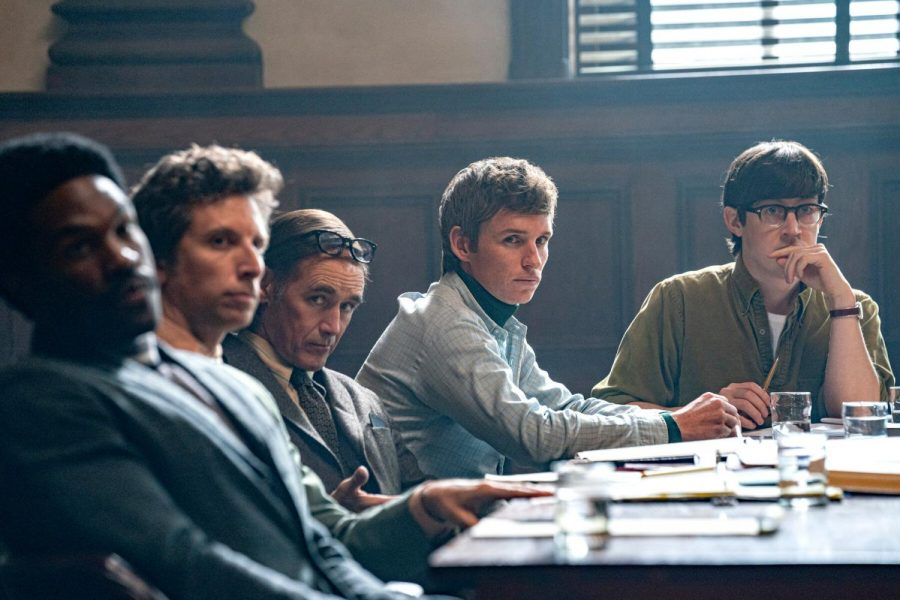 """""""The Trial of the Chicago 7"""" directed by Aaron Sorkin (Courtesy Niko Tavernise/Netflix)."""