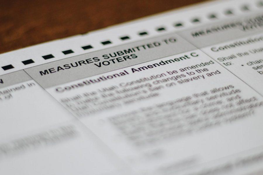 Consitutional Amendment C on the 2020 Utah ballot (Photo by Mark Draper | The Daily Utah Chronicle)