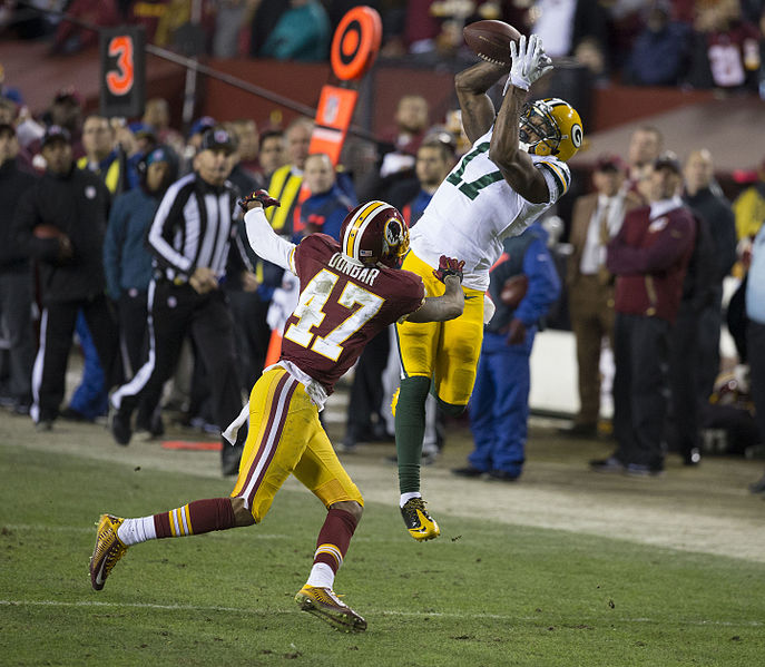 Packers at Redskins Wildcard Game 01/10/16 (Image via WikiMedia Commons)