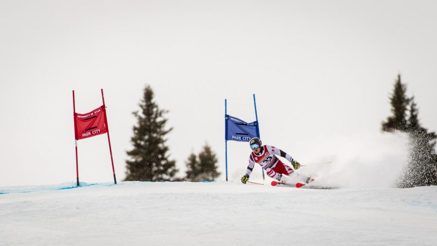 Huston Philp from the University of Utah ski team competes in the Utah Invitational at Park City Mountain Resort in Park City, Utah on Saturday, Feb. 22, 2020. (Photo by Kiffer Creveling | The Daily Utah Chronicle)