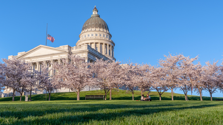 Utah State Capitol on April 2, 2020. (Photo by Abu Asib | The Daily Utah Chronicle)
