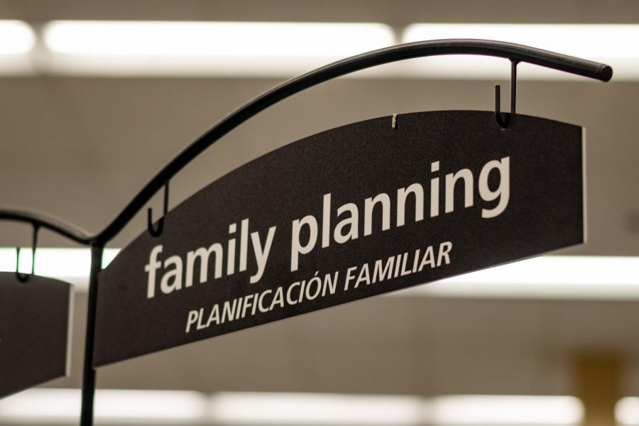 The family planning section at Smith's grocery store on 400 S in downtown Salt Lake on Feb 7, 2021. (Photo by Jack Gambassi | The Daily Utah Chronicle)