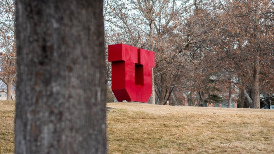The block U on campus on Feb. 2, 2021. (Photo by Jack Gambassi | The Daily Utah Chronicle)