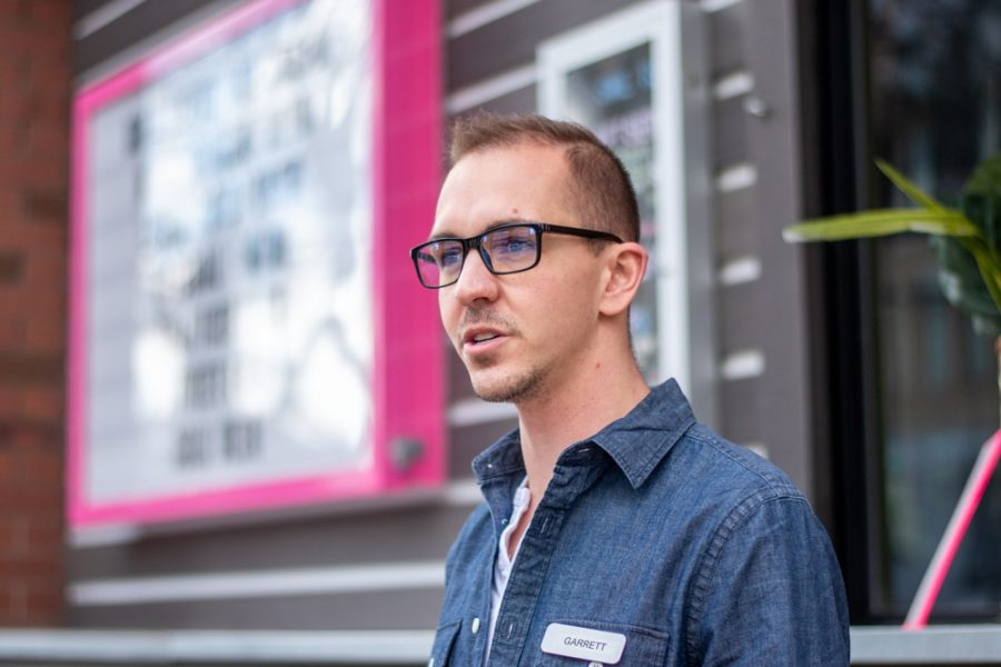 Garrett Cowie is the general manager at the asian-fusion restaurant, Ginger Street, located in the heart of downtown Salt Lake City. Feb. 28, 2021. (Photo by Jack Gambassi | The Daily Utah Chronicle)