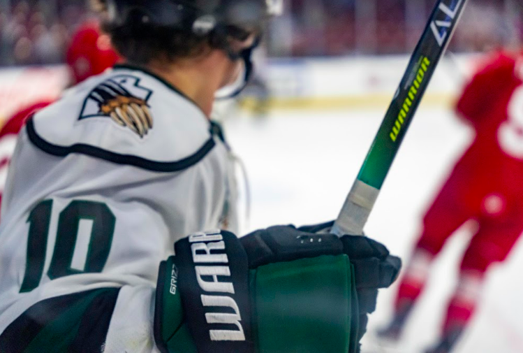 Utah Grizzlies in a game versus the Allen Americans, Friday, Mar. 12, 2021. (The Daily Utah Chronicle/Photo by Kevin Cody)