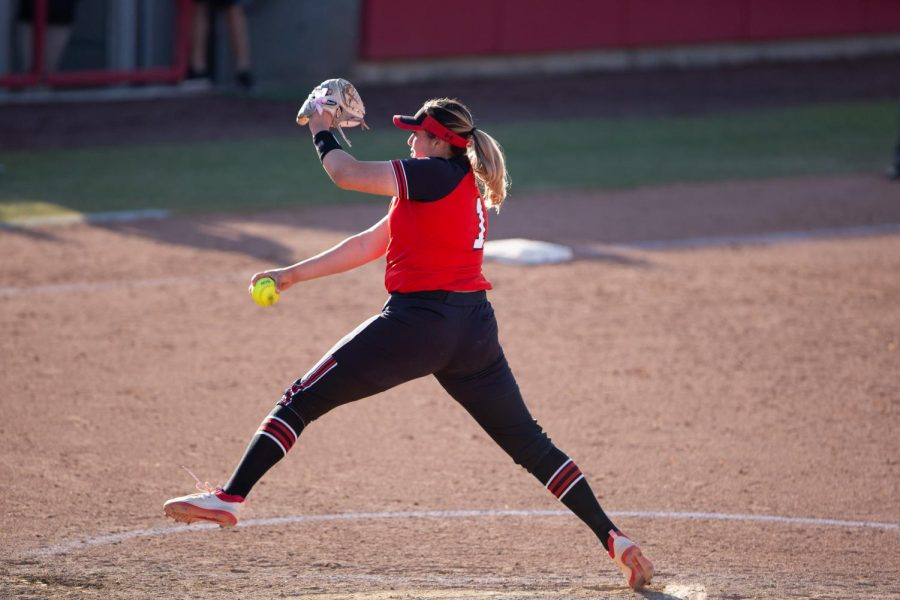Junior pitcher, Sydney Sandez (#1) during the Utes' game against the ASU Sun Devils on April 2, 2021 at the Dumke Family Softball stadium on campus. (Photo by Jack Gambassi | Daily Utah Chronicle)