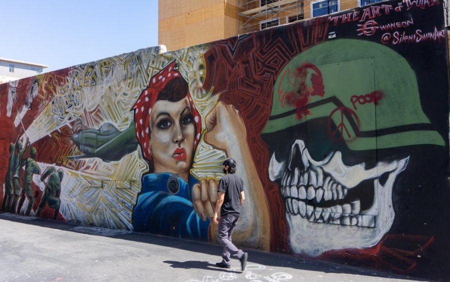 Art in downtown Salt Lake City. (Photo by Tom Denton | Daily Utah Chronicle)