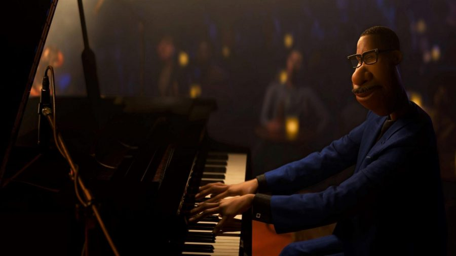 Joe Gardner playing the piano in Pixar's