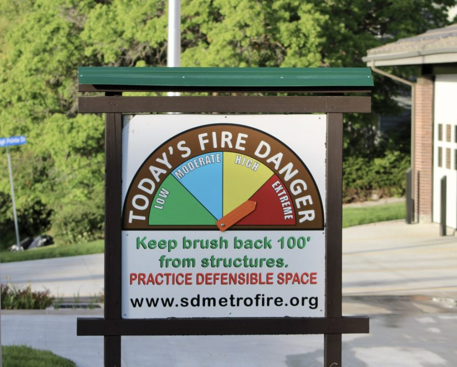 A sign reported fire danger levels near Mueller Park Canyon in Bountiful, Utah on Friday, May 21, 2021. (Photo by Brooklyn Critchley | The Daily Utah Chronicle)