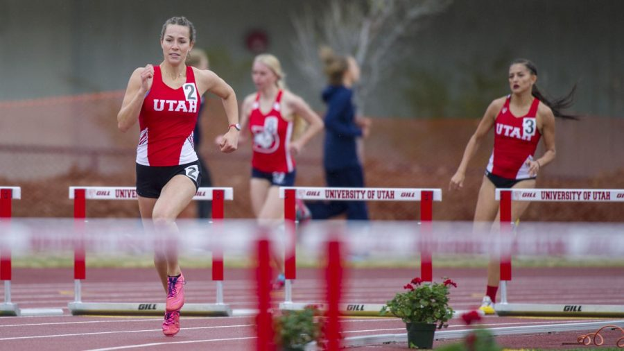 The University of Utah and Weber State host the Spring Classic at the McCarthy track & field in Salt Lake City, Utah on Friday, April 6, 2018. (Photo by Kiffer Creveling | Daily Utah Chronicle)