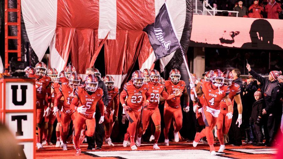 The+University+of+Utah%27s+Football+Team+storm+onto+the+field+in+an+NCAA+football+game+vs.+BYU+at+Rice-Eccles+Stadium+in+Salt+Lake+City%2C+Utah+on+Saturday+Nov.+24%2C+2018.%28Photo+by+Curtis+Lin+%7C+Daily+Utah+Chronicle%29