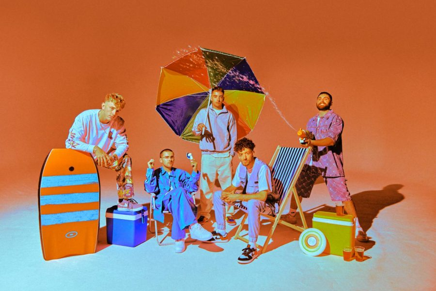 Murray Matravers and the members of Easy Life pose for Lifes a Beach. (Courtesy UMG)