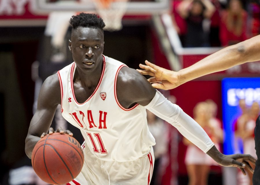 University of Utah sophomore guard Both Gach (11) drives towards the basket during an NCAA Basketball game vs. the University of Colorado at the Jon M. Huntsman Center in Salt Lake City, Utah on Saturday, March 7, 2020. (Photo by Kiffer Creveling | The Daily Utah Chronicle)