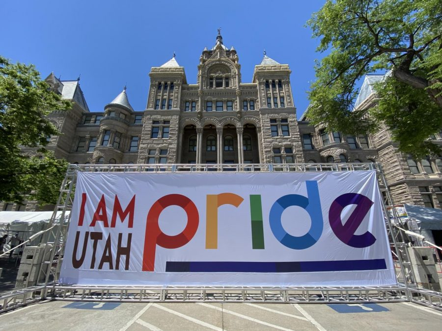 The Entrance to the Utah Pride Story Garden. (Photo by Paige Gardner | The Daily Utah Chronicle)