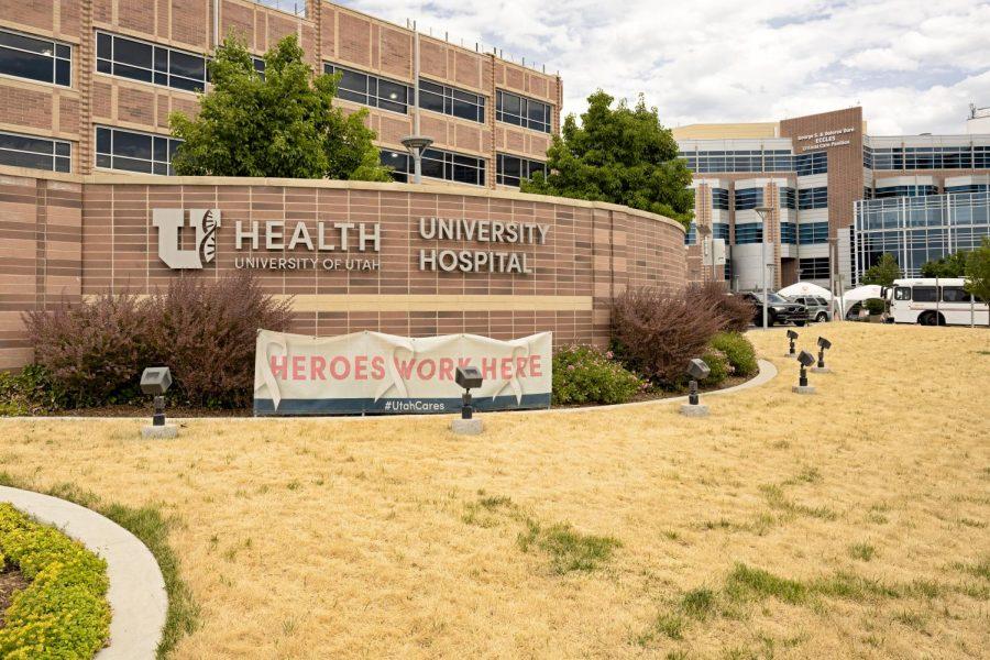 University of Utah Hospital main entrance in Salt Lake City on June 23, 2021. (Photo by Kevin Cody | The Daily Utah Chronicle)