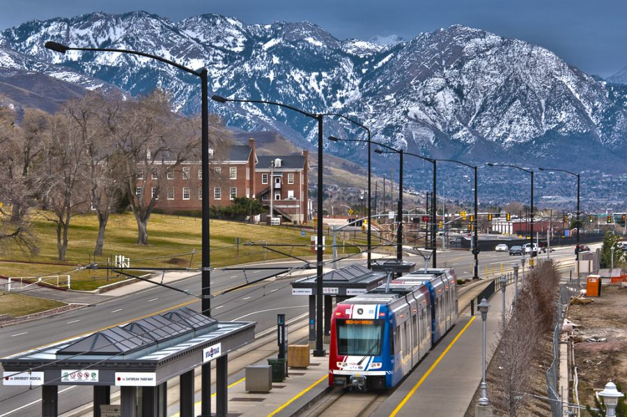 TRAX Red Line to Daybreak at Fort Douglas Station by vxla is licensed under CC BY 2.0