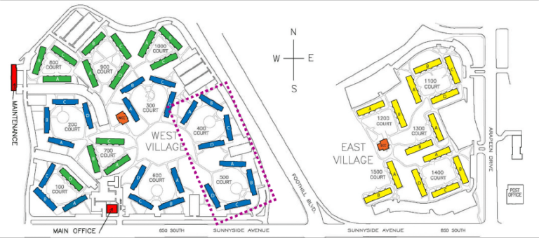 Location of the West Village Housing Replacement Project inside of the West Village. (Photo Courtesy of University of Utah Planning, Design and Construction)