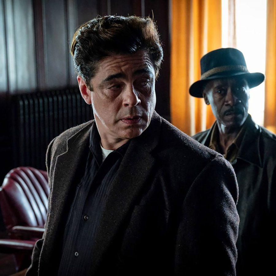 Benicio del Toro and Don Cheadle in No Sudden Move. (Courtesy of Claudette Barius and Warner Bros.)