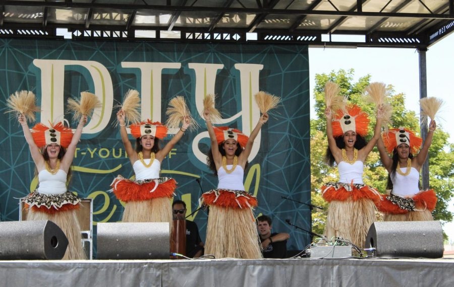 Kanani Pua Dancers Performing at the Salt Lake City DIY Festival. (Photo by Brooklyn Critchley | The Daily Utah Chronicle)