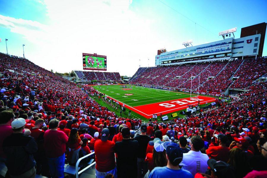 Rice-Eccles Stadium, Salt Lake City, Utah. (Photo by Adam Fondren | The Daily Utah Chronicle)