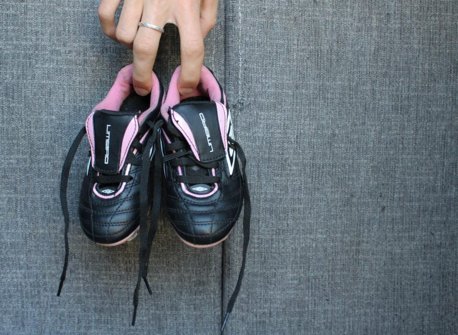 Childrens soccer shoes are held in a residential house in Salt Lake City, Utah on Tuesday, September 14, 2021 (Photo by Brooklyn Critchley | The Daily Utah Chronicle)