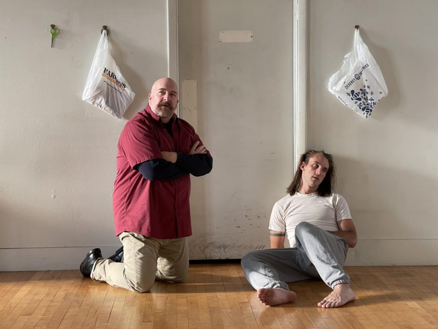 "Actors Tyler Fox and Paul Kiernan in ""PSYCHOPOMP."" (Courtesy Roger Benington)"