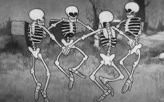Screenshot from The Skeleton Dance. (Courtesy of Disney+)