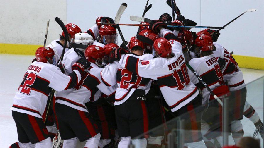 Photo of the University of Utah Mens Hockey Team. (Courtesy of the Utah Hockey Club)