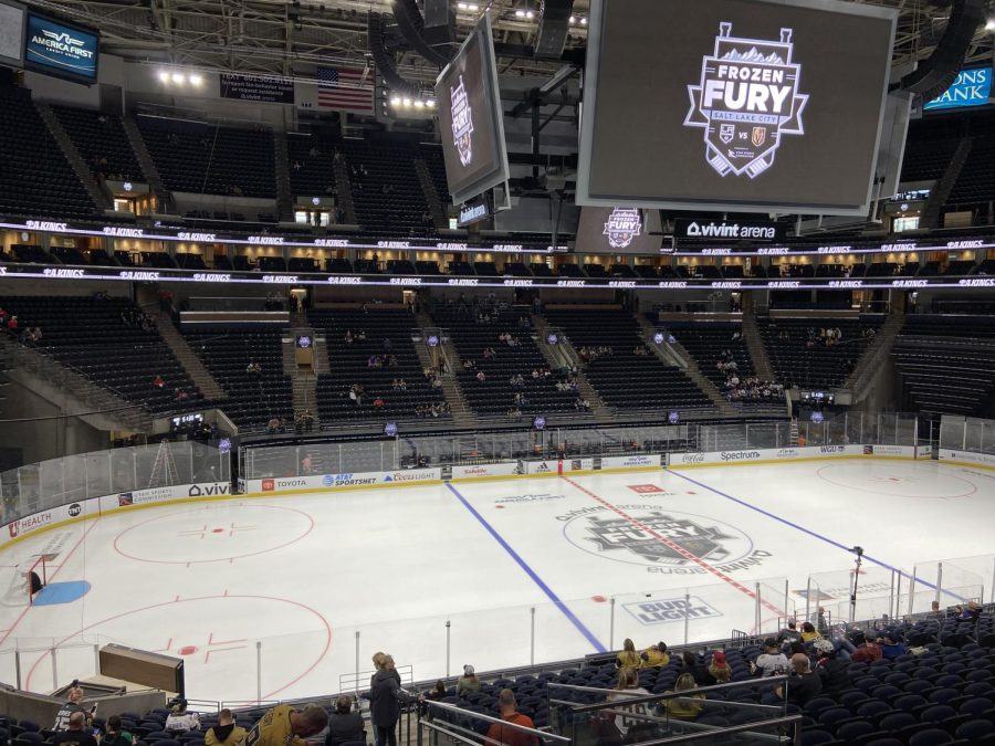 Frozen Fury ice rink at Vivint Arena on Sept. 30, 2021. (Photo by Cole Bagley | The Daily Utah Chronicle)