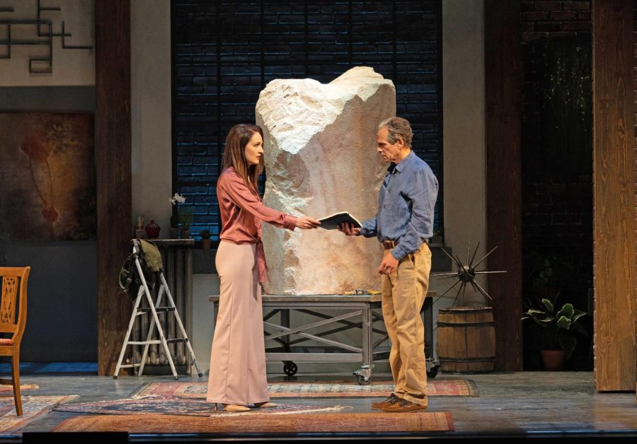 Laura J. Hall and T. Ryder Smith in the World Premiere of Ass at Pioneer Theatre Company (Courtesy PTC)