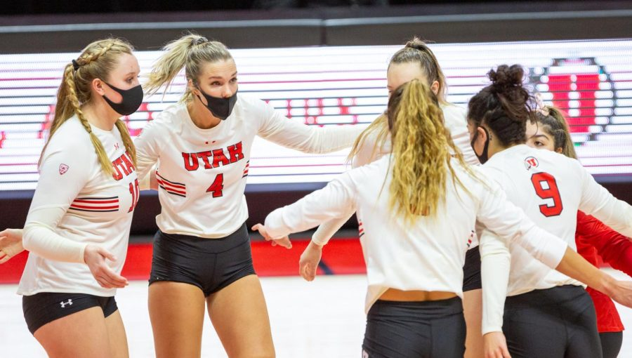 U+of+U+Volleyball+team+against+Colorado+on+March+21%2C+2021+at+the+Jon+M.+Huntsman+Center+on+campus.+%28Photo+by+Tom+Denton+%7C+The+Daily+Utah+Chronicle%29%0A