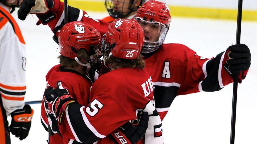 Photo of the University of Utah men's hockey team. (Courtesy of the Utah Hockey Club)