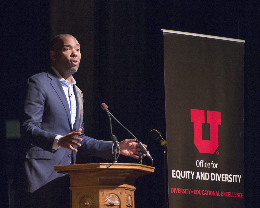 Ta-Nehisi Coates speaks as part of Dr. Martin Luther King, Jr. Week at Kingsbury Hall at the Univesity of Utah.