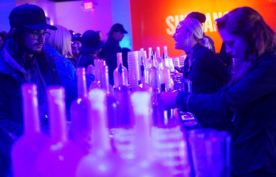 Bartenders and patrons inside the Sundance TV HQ Party in Park City, Utah on Friday, Jan. 27, 2017. (Rishi Deka, Daily Utah Chronicle)