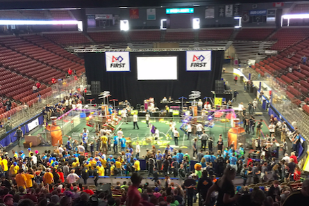 Students Battle in Robotics Competition